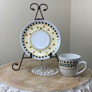 Mary Engelbreit*Time for Tea Cup Saucer Set *Queen